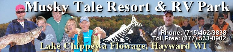 Musky Tale Resort and RV Park on the Chippewa Flowage in Hayward WI