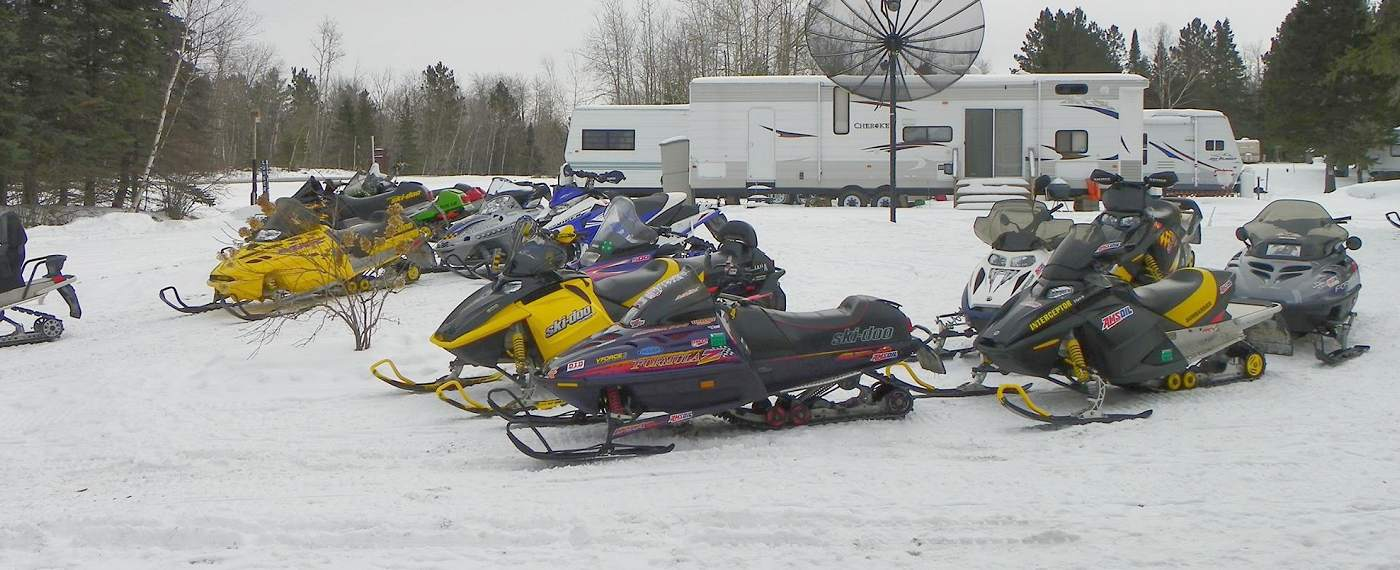 Snowmobiles, ATV's, bikers & bicyclists Welcome